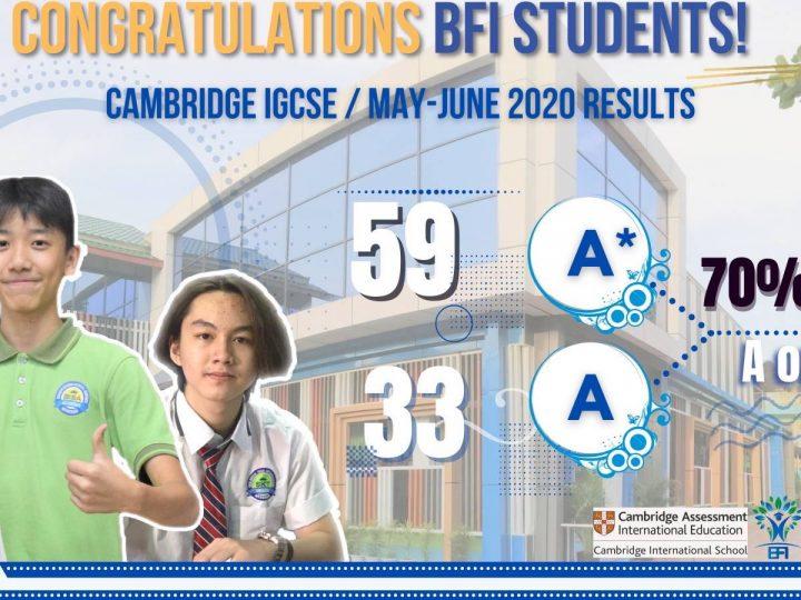 Cambridge IGCSE/May- June 2020 Results